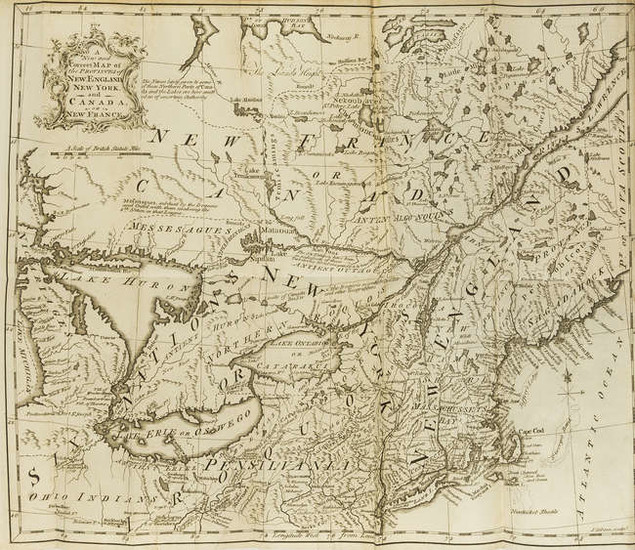 Americas.- American Gazetteer (The), 3 vol., first edition, 6 folding engraved maps, for A.Millar, and J. & R.Tonson, 1762.