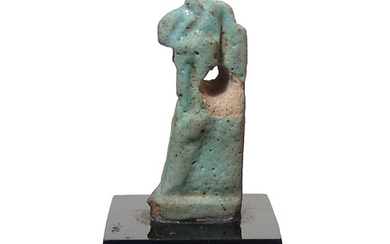 An Egyptian faience amulet of Thoth, Ptolemaic