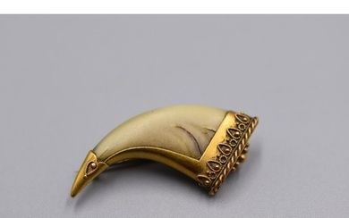 Antique 15ct Gold Claw Brooch (3.3 grams)