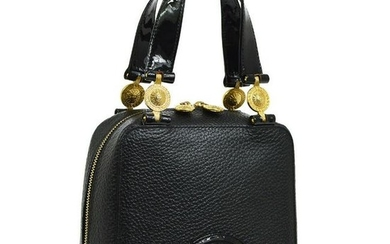 Authentic VERSACE Leather, Patent Leather Hand Bag