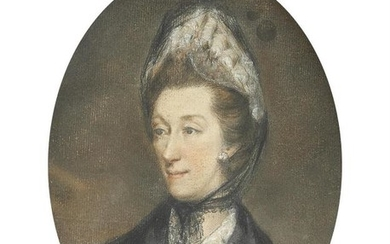 British School (19th century), Portrait of Mary Morland, daughter of Thomas and Ann Morland