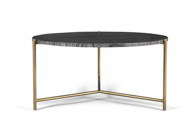 COFFEE TABLE A circular marble topped coffee table...