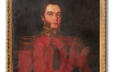 ENGLISH SCHOOL (19TH CENTURY), PORTRAIT OF AN OFFICER