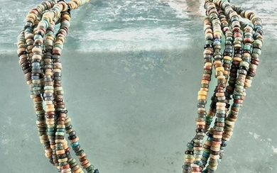 Egyptian Faience Seed Bead Necklace
