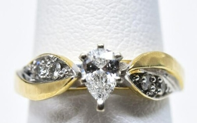 Estate 14kt Yellow Gold & Diamond Engagement Ring