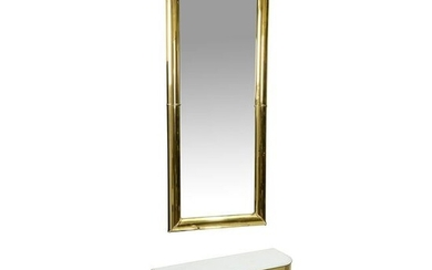 Faceted Mirrored Console & Mirror