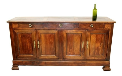 French Directoire 4 door sideboard in walnut