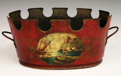French Tole Monteith Bowl