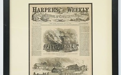 Harper's Weekly 1866 Post-War Riots Cover