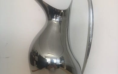 Henning Koppel: HK pitcher of polished stainless steel, 1.9 L. Georg Jensen Masterpiece. H. 33.5 cm. Unused in original box.