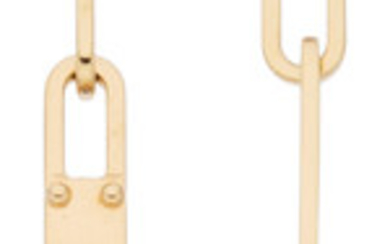 Hermès 18K Yellow Gold Kelly Chaine Earrings Condition: 1...