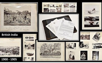 INDIA-PHOTOGRAPHY] The photograph Album of Lieutenant Blythe Ritichie of the 15th Hussars. [circa 1900-1905].