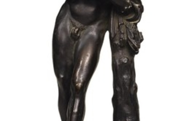 ITALIAN, 18TH CENTURY AFTER THE ANTIQUE | SILENUS WITH THE INFANT DIONYSUS