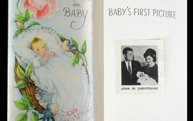 """JFK, Jr. """"A Keepsake for Baby"""" Gift Given to Jacqueline"""