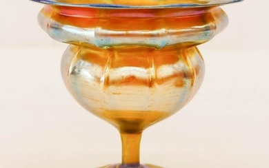 L.C. Tiffany Favrile Iridescent Glass Compote