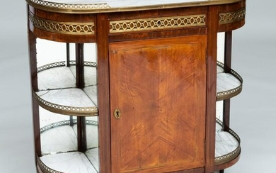 Louis XVI Style Mahogany and Tulipwood Parquetry