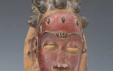 Mask, Baule/Ivory Coast, approx. 50 years old,...
