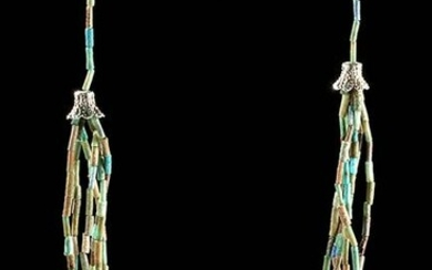Multi-Strand Egyptian Faience Bead Necklace - Wearable!
