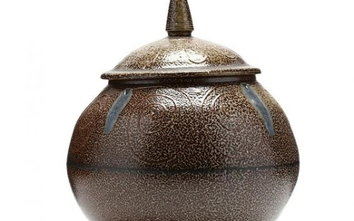 NC Pottery, Mark Hewitt Covered Urn