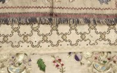 Ottoman. A 19th century Turkish towel, and others
