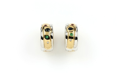 Pair of 14 kt gold hoop earrings...