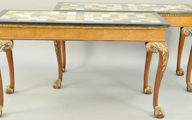 Pair of George III Style Mahogany Pier Tables, parcel