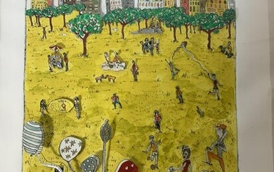 Pop Art 1976 James Rizzi Central Park Signed