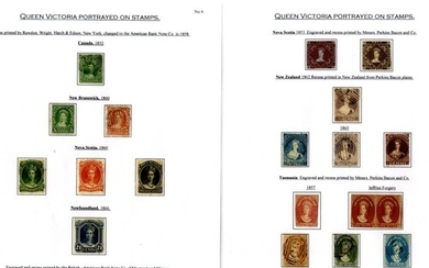 QUEEN VICTORIA PORTRAITS collection of M & U stamps superbly...