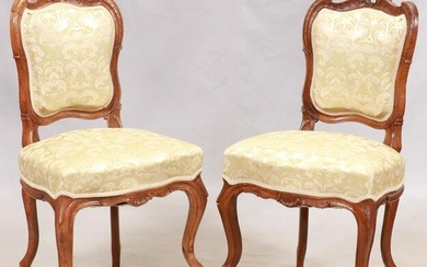 RENAISSANCE REVIVAL WALNUT SIDE CHAIRS, PAIR
