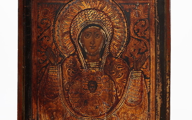 RUSSIAN SCHOOL, LATE 19TH CENTURY. Our Lady of the Sign of Novgorod.