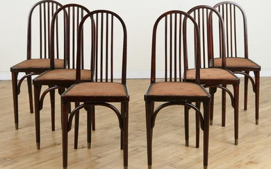 SET 6 SIGNED DINING CHAIRS BY J & J KOHN