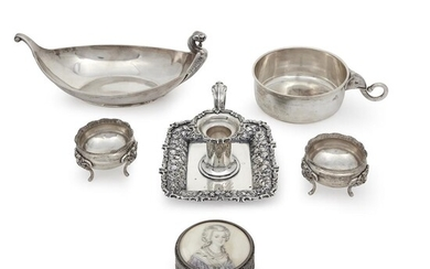 Six assorted sterling, silver and coin silver items 19th/20th...