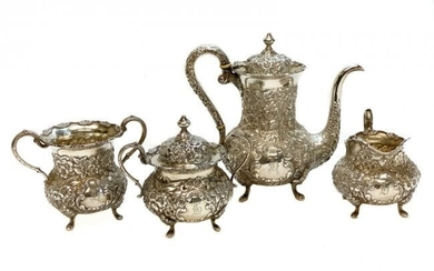 Sterling Silver 4 Piece Coffee Tea Service Set