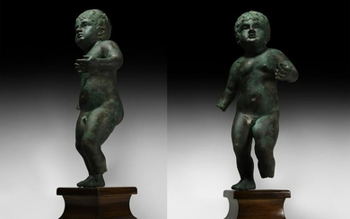 Substantial Roman Statue of a Nude Young Boy