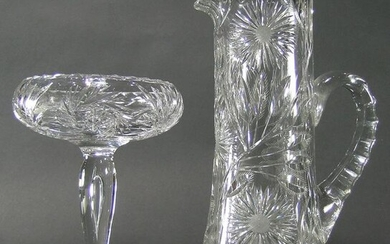 TWO PAIRPOINT CUT GLASS TABLE ARTICLES