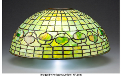 Tiffany Studios Leaded Glass Acorn Lamp Shade (circa 1910)