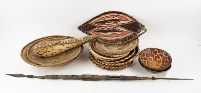 Tribal Spear, Hide Shield & Other African Items