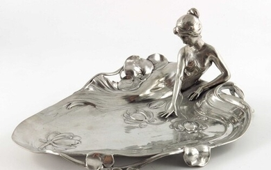 WMF, a Jugendstil silver plated card tray, model 229, modell...