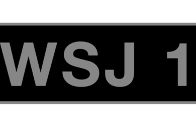 'WJS 1' - UK vehicle registration number