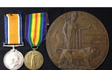 WW1 Pair and Plaque, Hood Battalion RNVR.British War and Vic...