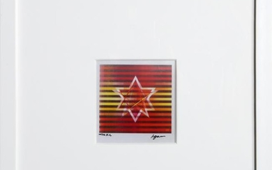 Yaacov Agam, Two Stars (Small) - Red/Yellow, Agamograph