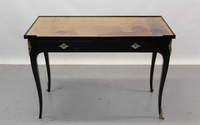 18th century style French ebonised fruitwood and gilt metal mounted desk