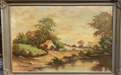 20th Century American Oil on Canvas Painting
