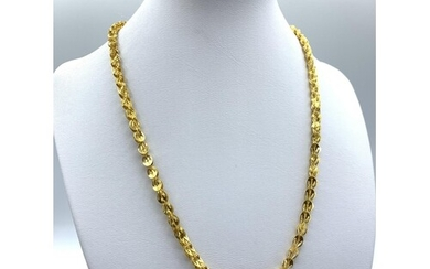 24ct Gold Necklace From The Far East Intricate Unique Design...