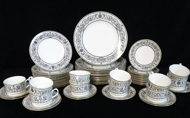 "59 PCS. ROYAL WORCESTER ""PADUA"" DINNER WARE 10.5"" DIA."
