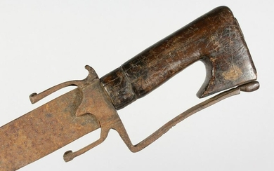 A 17TH/18TH CENTURY NORTH AFRICAN SWORD, probably