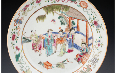 A Chinese Porcelain Charger with Figure Story (Qing Dynasty, Xianfeng Period)