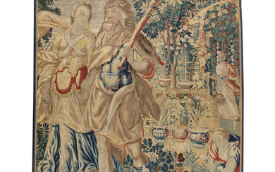 A Continental Wool Tapestry