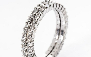 A DIAMOND DOUBLE ROW ETERNITY RING