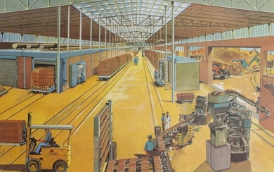 A GROUP OF THREE 1960'S EDUCATIONAL POSTERS depicting factories...